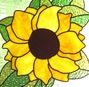 cropped stained glass sunflower